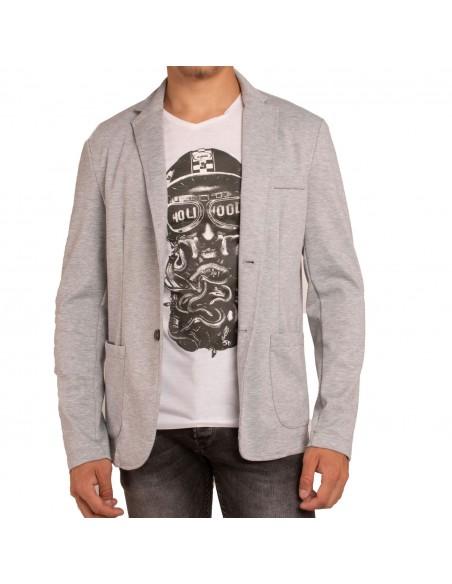 Blazer homme sportswear gris chiné
