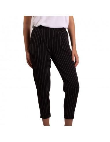 Pantalon taille haute femme rayures coupe
