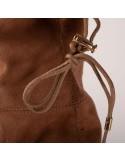 Cuissardes plates pour femme en suédine montantes élastiques noir ou camel