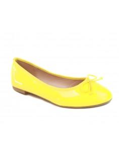 Ballerines vernis jaune classique avec semelle interieure confort