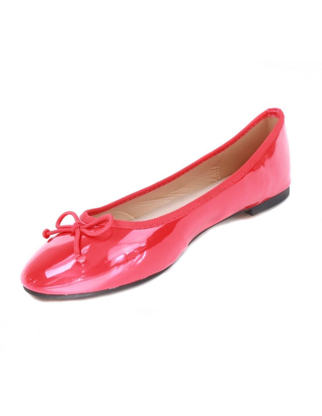 ballerines femme pas cher rouge vernis avec semelle en cuir. Black Bedroom Furniture Sets. Home Design Ideas