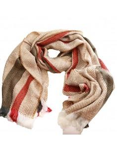 Echarpe laine femme longue type plaid