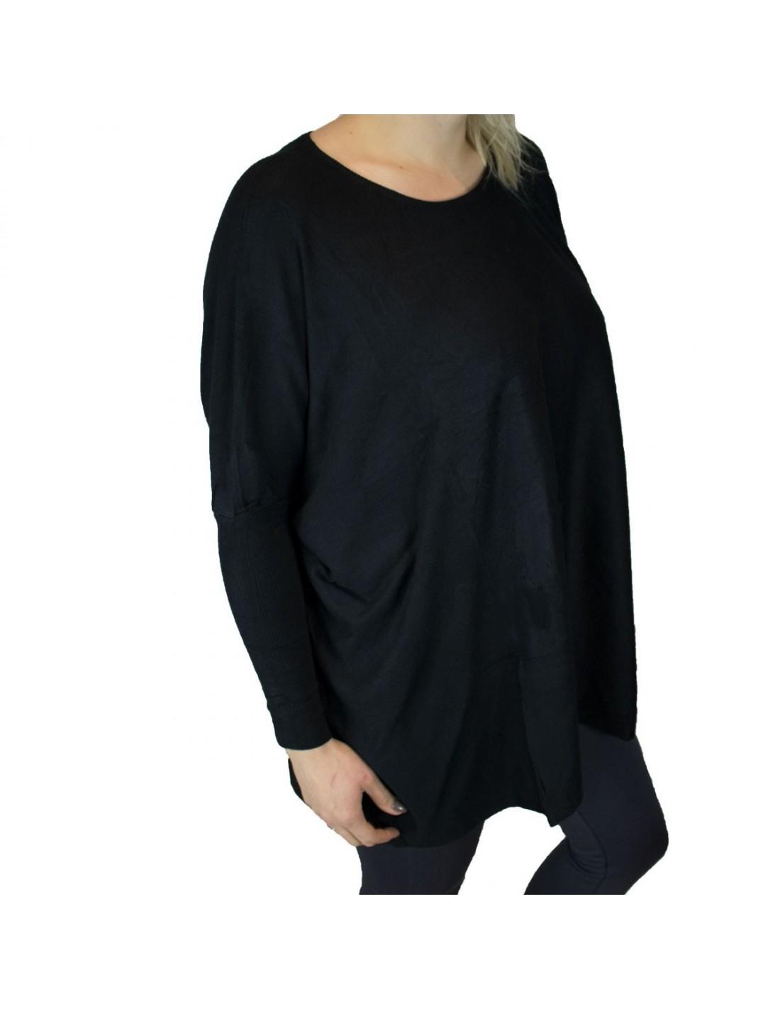 charme de coût profiter du prix de liquidation comment commander Pull femme ample noir aspect laine douce grande taille
