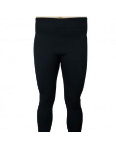 Legging doublé long noir chaud et confort épais effet mousse