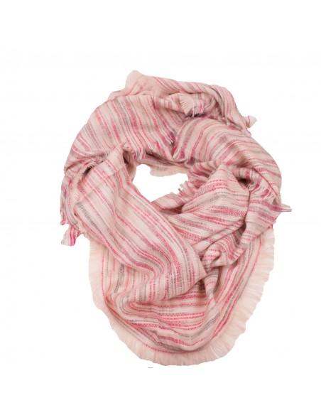 Echarpe femme longue type châle rose