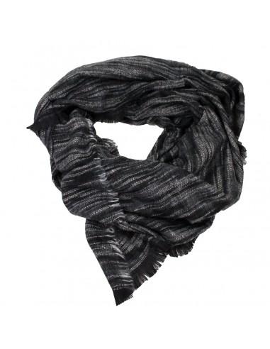 2217e409a7c5 Echarpe femme longue type châle noir gris