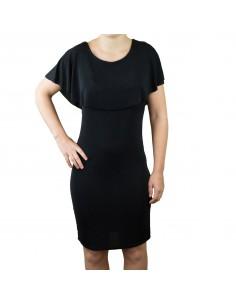 Robe paillette effet robe de fête noire scintillante mi longue