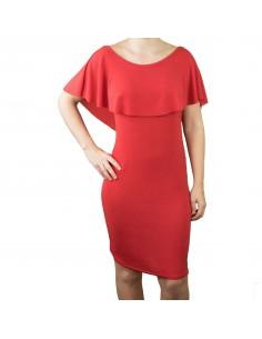 Robe de Soirée Fête rouge scintillante mi longue