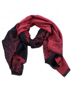 Echarpe femme effet tacheté en laine douce