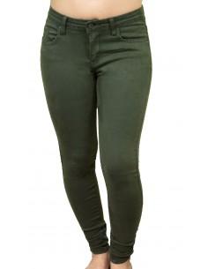 Jean femme kaki coupe slim taille haute stretch et souple qualité supérieure