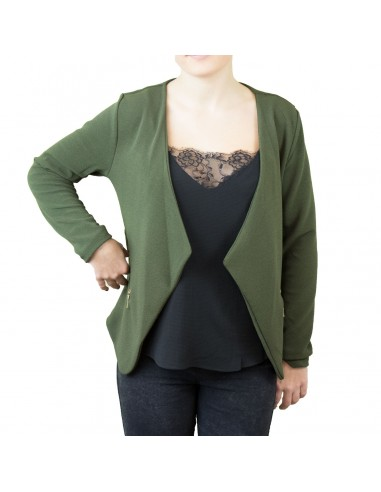 blazer femme vert kaki luxe femme blazer long vert kaki blazers et gilets. Black Bedroom Furniture Sets. Home Design Ideas