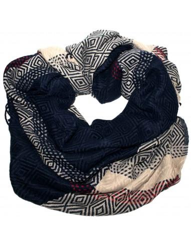 7365e5479af Grande écharpe plaid femme laine douce   motif losange triangle