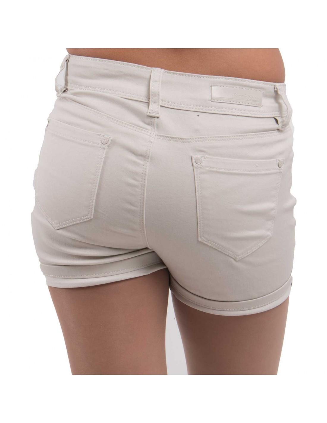 ... Short en jean femme taille haute   stretch divers coloris ... 2f8192a5691