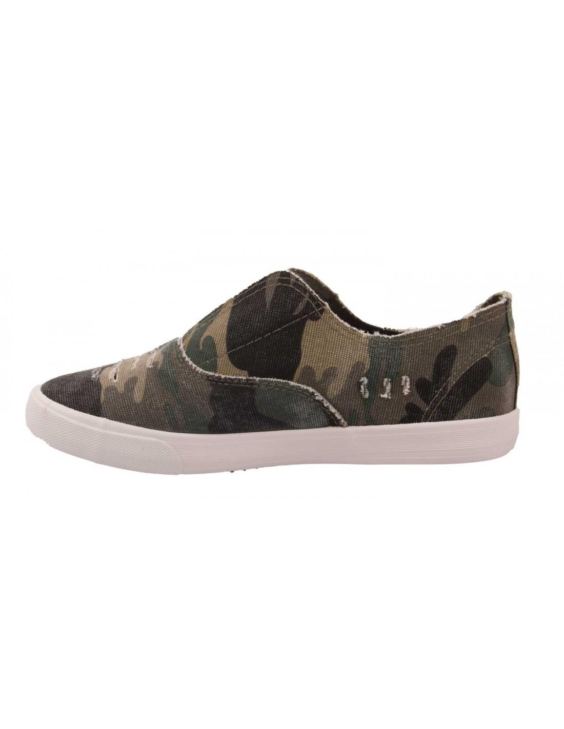slip on femme militaire basket toile plate motif army camouflage. Black Bedroom Furniture Sets. Home Design Ideas