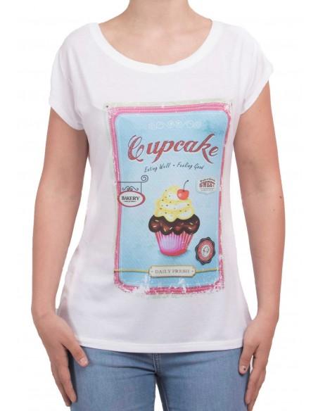 T-shirt Cupcake manches courtes femme type T-shirt humour femme coloré