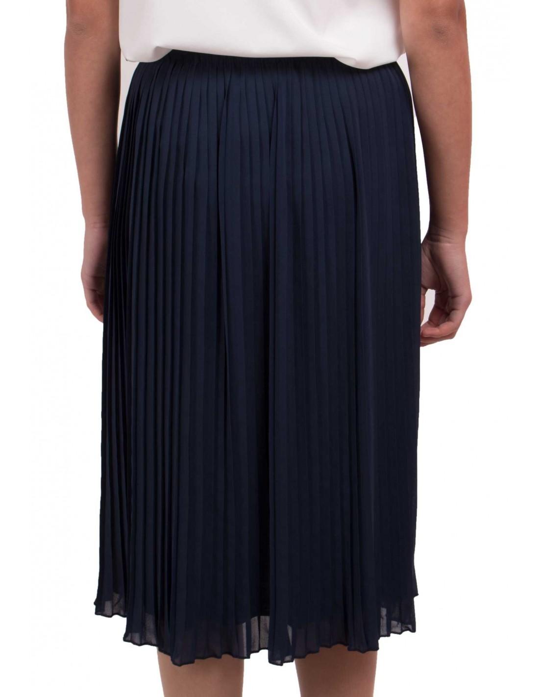 jupe pliss e mi longue coupe droite taille lastique divers coloris. Black Bedroom Furniture Sets. Home Design Ideas