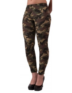 Legging militaire type legging femme kaki style caleçon kaki motif camouflage