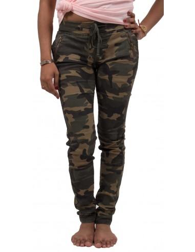62ce6727bc2 Jean femme militaire motif camouflage avec taille élastique forme jegging