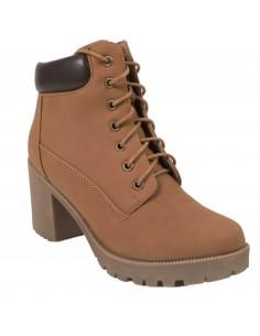 Boots Rangers femme à talon à lacets