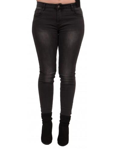 famous brand best supplier sold worldwide Jean femme grande taille coupe slim stretch taille haute noir délavé gris