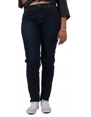 Jean slim grande taille bleu brut & taille haute du 42 au 50 pour femme
