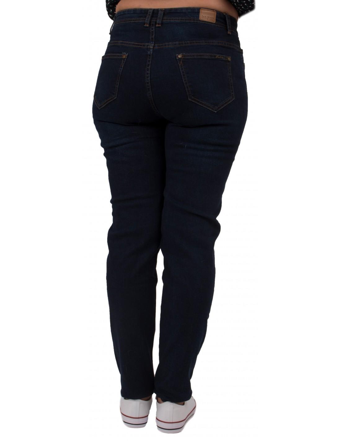 jean slim grande taille bleu brut taille haute du 42 au. Black Bedroom Furniture Sets. Home Design Ideas
