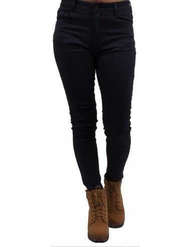Jean skinny bleu marine taille haute ultra stretch pour femme