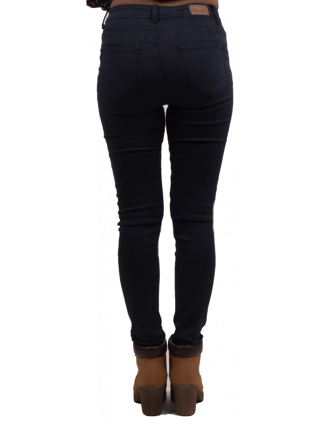 jean skinny bleu marine taille haute ultra stretch pour femme. Black Bedroom Furniture Sets. Home Design Ideas