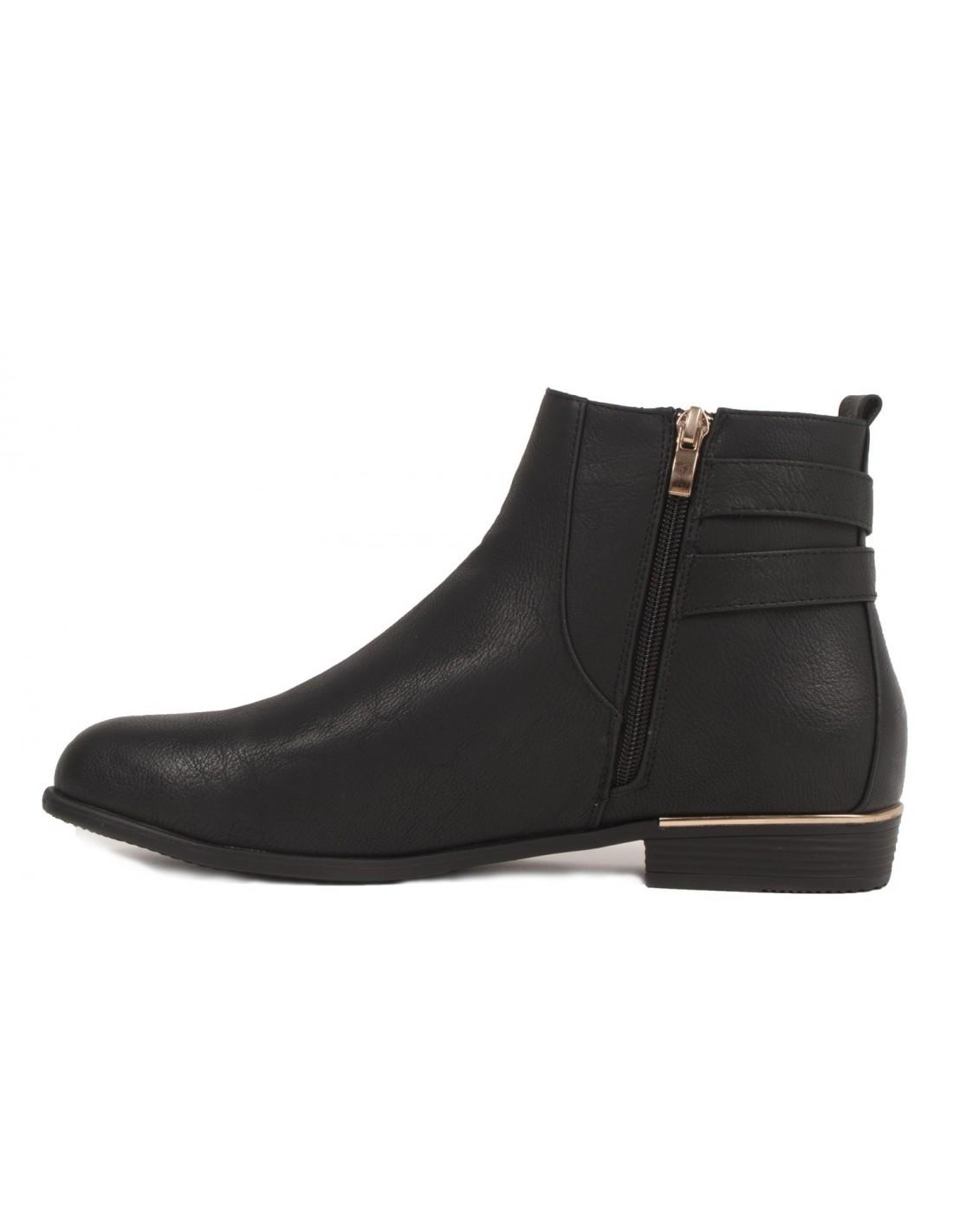 bottines chelsea noir femme grande pointure 41 42 43 44 en simili cuir. Black Bedroom Furniture Sets. Home Design Ideas