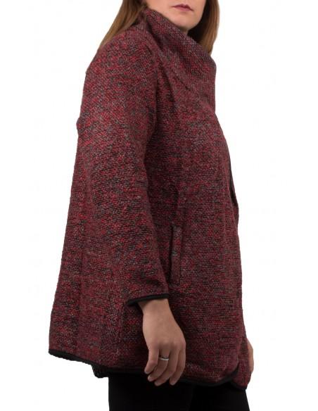Veste drappée femme Grande Taille effet tweed