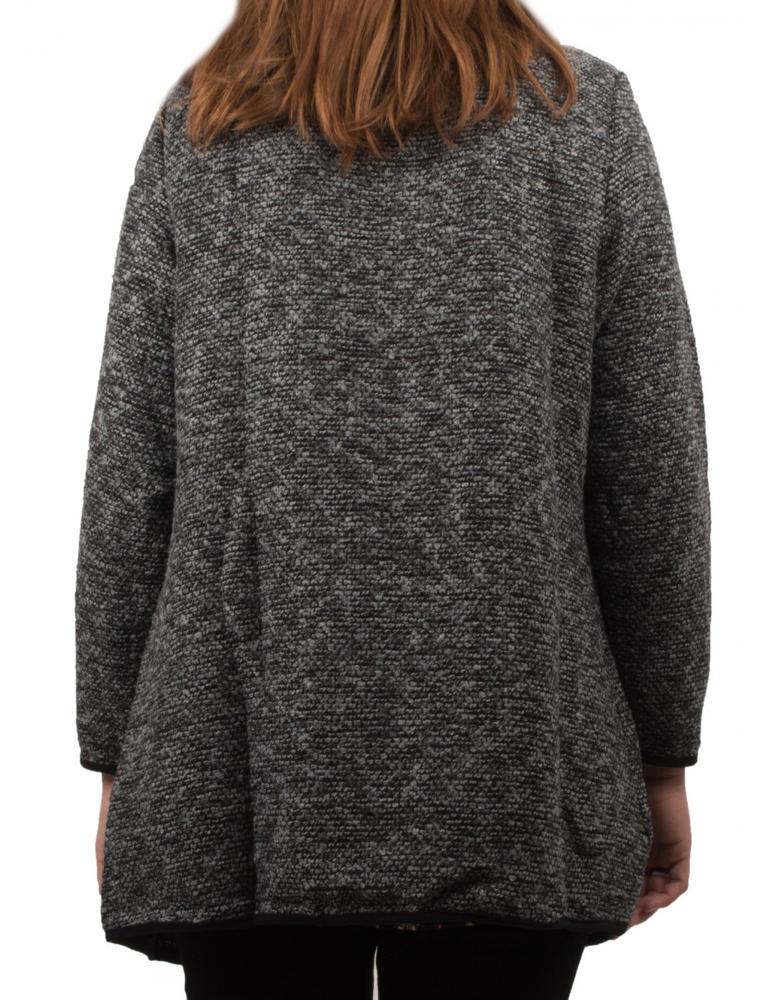 veste drapp e femme grande taille effet tweed bordeaux ou grise. Black Bedroom Furniture Sets. Home Design Ideas