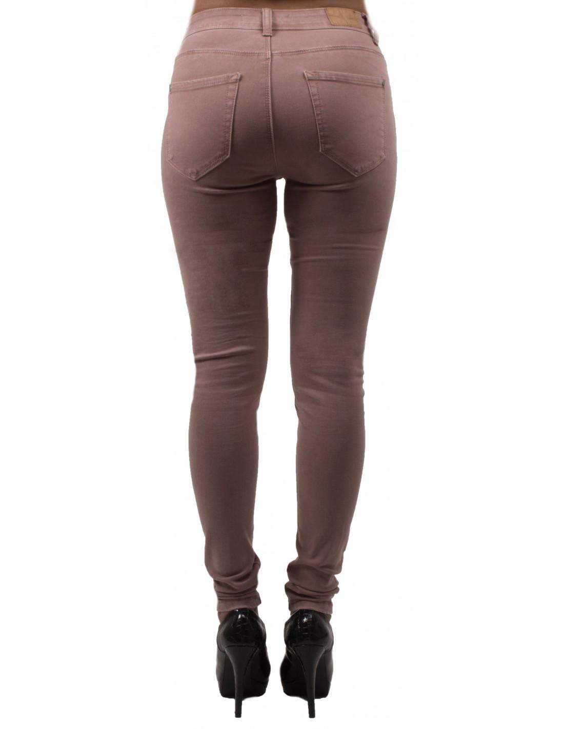 jean slim rose femme taille haute ultra stretch jeaniful. Black Bedroom Furniture Sets. Home Design Ideas