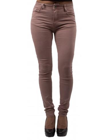 Jean slim rose femme taille haute ultra stretch - Jeaniful
