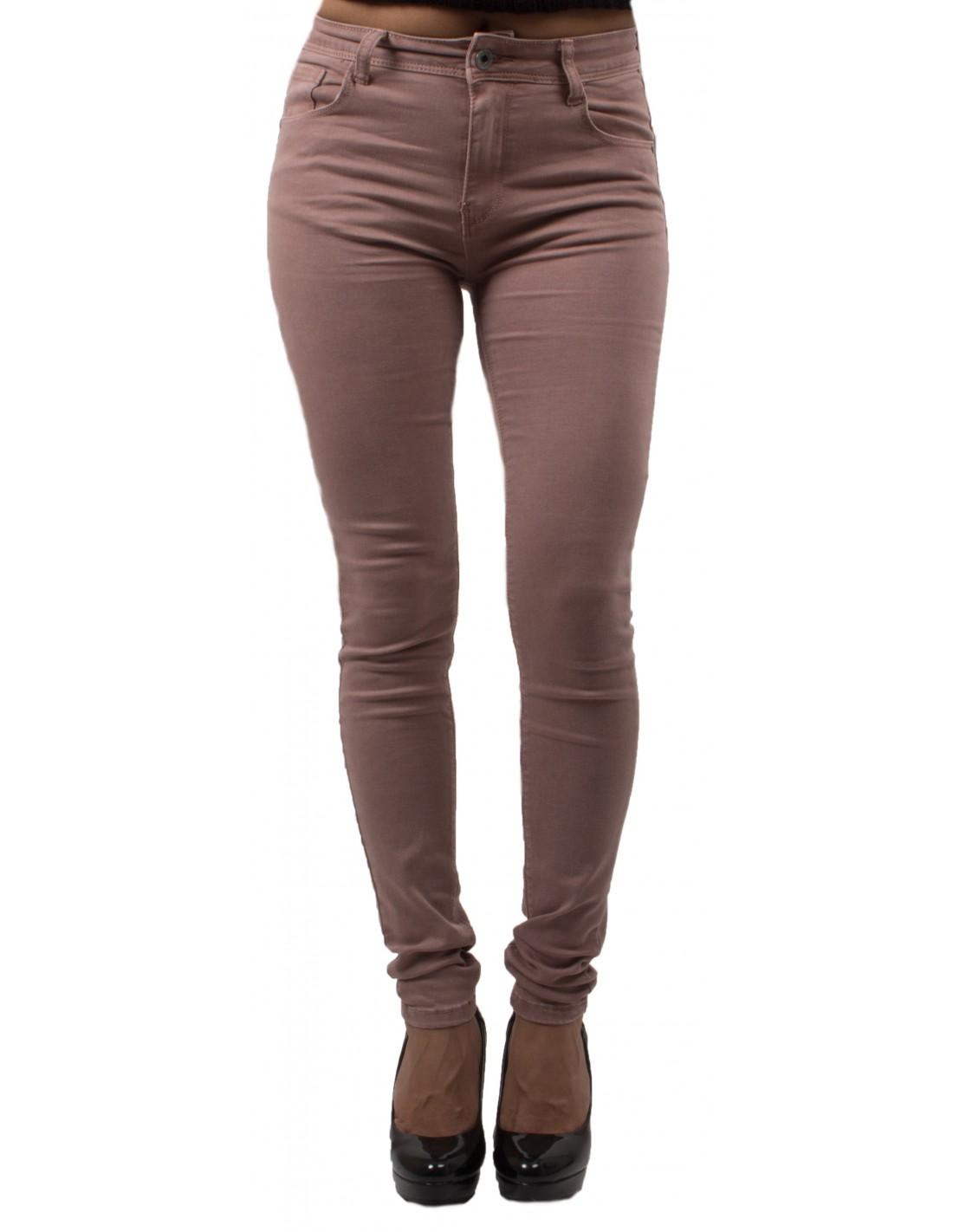 Jean slim rose femme taille haute ultra stretch - Jeaniful b85075fdb248
