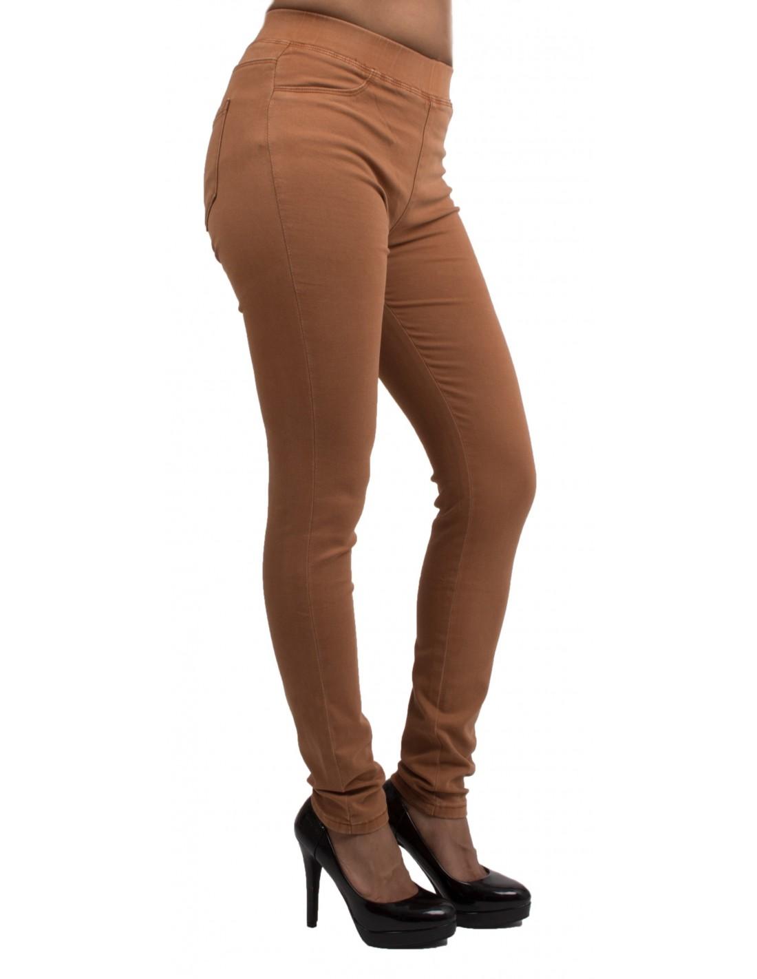 Haute Femme Ultra Stretch Camel Jean Forme Slim Jegging Taille vN8n0wOm