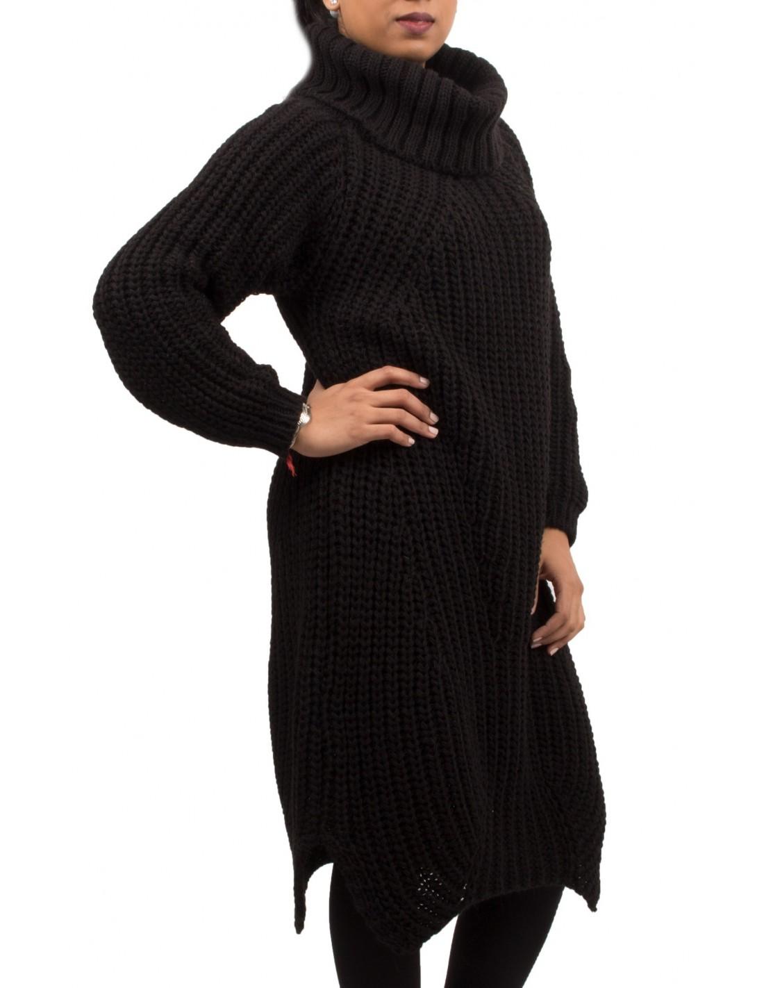 ffe14ff67d73 Robe laine noire col roule – Modèles populaires de robes