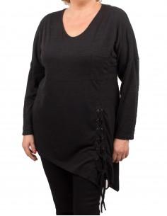 Grande Taille femme Tunique chaude avec lacet T46 - 50
