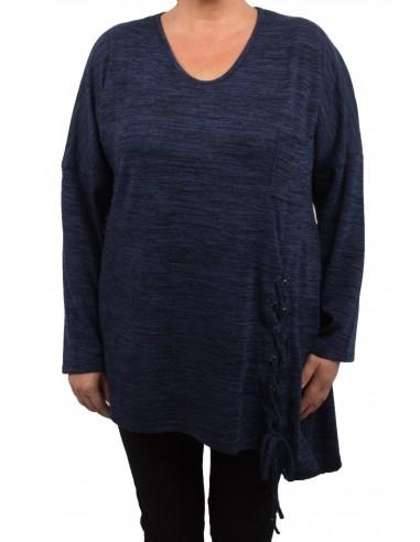 Tunique chaude Grande Taille femme avec lacet