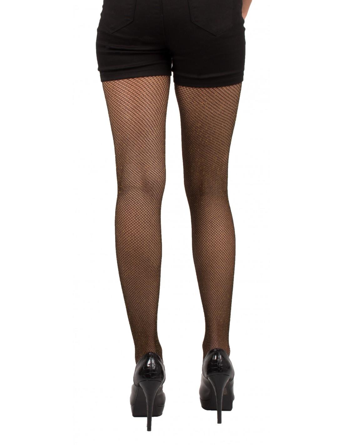 Pailletée Femme Argenté Résille Unique Taille Noir Doré Ou Collant ohCxQsrBtd