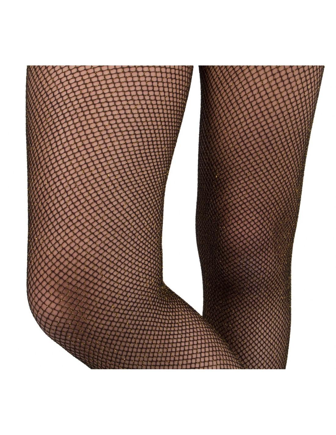 newest collection limited guantity website for discount Collant femme résille noir pailletée doré ou argenté Taille ...
