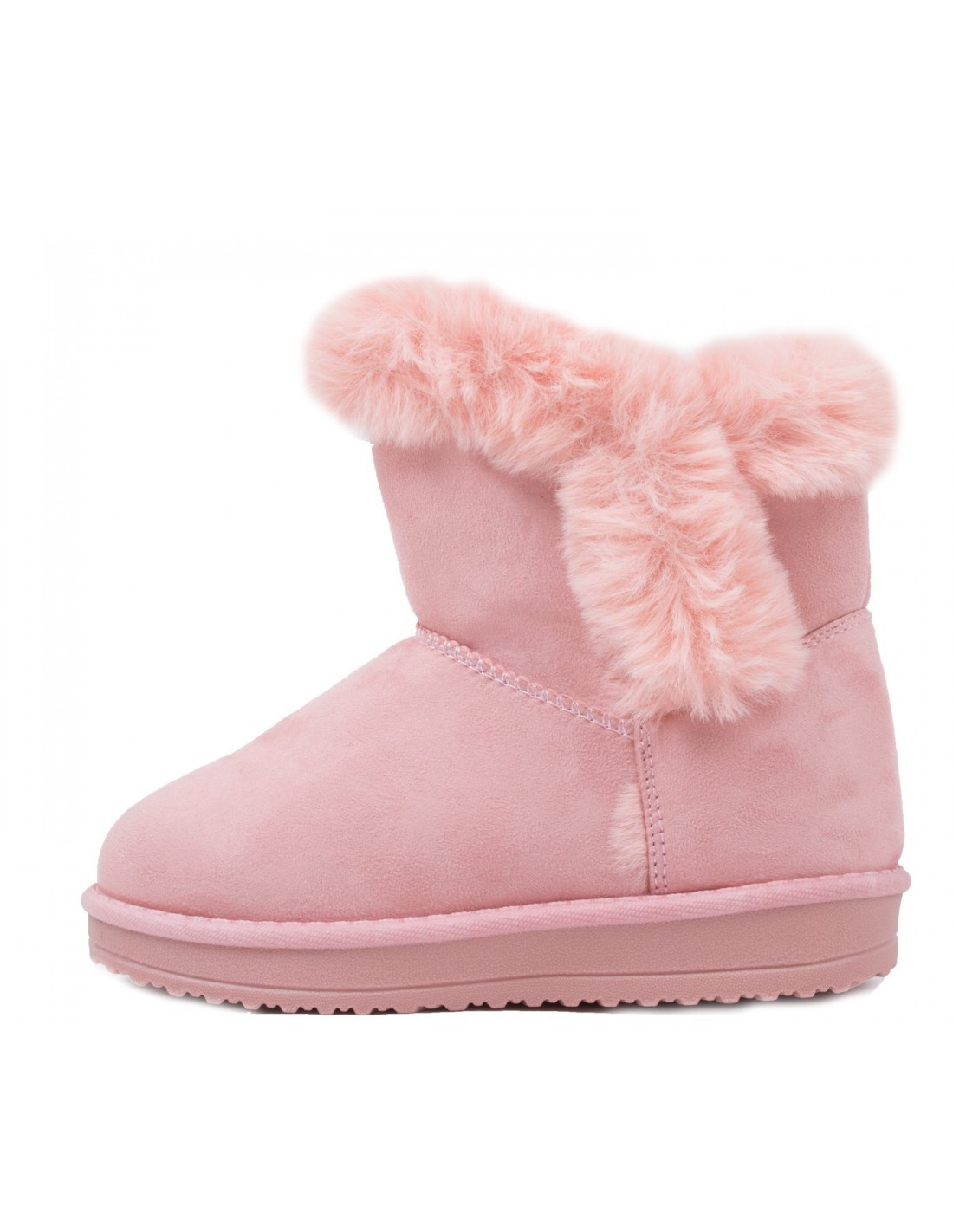 Boots- bottines fourrées enfant rose MRbQsk
