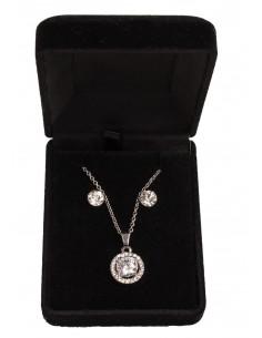 Parure de bijoux fantaisie avec Solitaire forme diamant