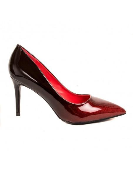 Escarpins vernis dégradé à paillette - Chaussure de soirée femme à talon aiguille
