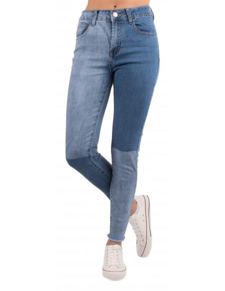 Jean bleu clair dégradé bicolore