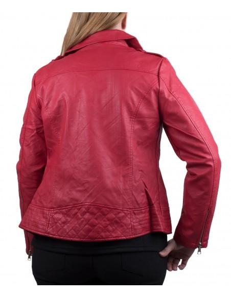 Veste Perfecto femme grande taille en simili cuir blouson biker pas cher