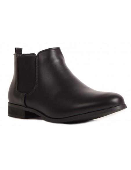 Boots chelsea femme basse avec élastique