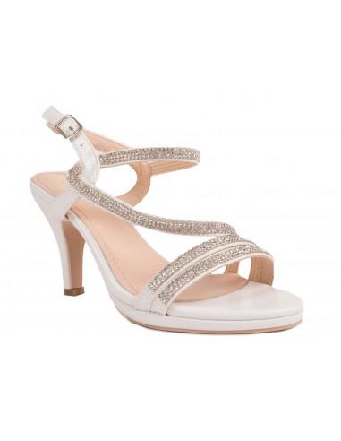 78c8bb721c2d8e Chaussures mariage femme strass   fines lanières croisées petit talon
