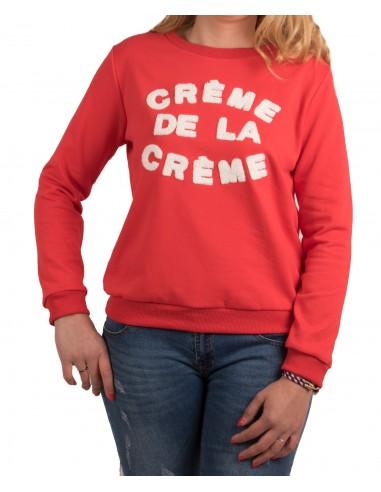 """Sweat humour femme en coton écriture """" Crème de la Crème """""""