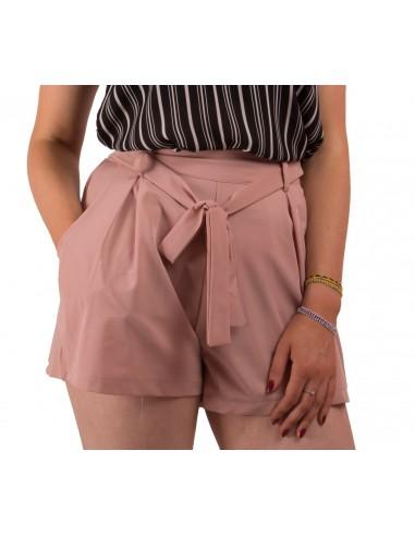 Short femme taille haute élastique ceinture