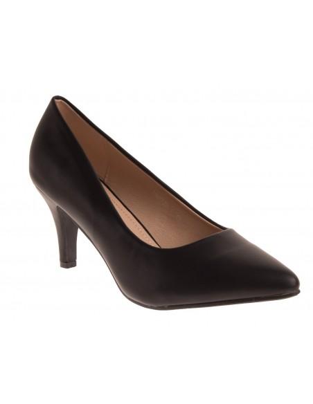 Escarpins femme bouts pointus  petit talon fin 6cm en simili cuir grandes pointures